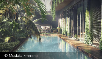 Indonesian Pool by Mustafa Emnaina